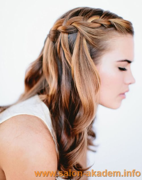 Техника плетения косы французский водопад фото