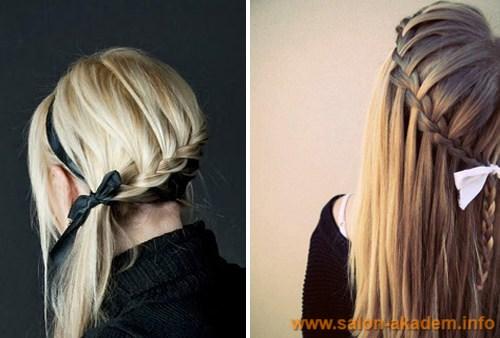 Прическа коса французский водопад схема