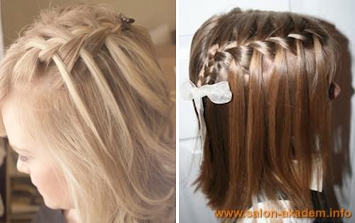 Свадебная прическа коса французский водопад фото