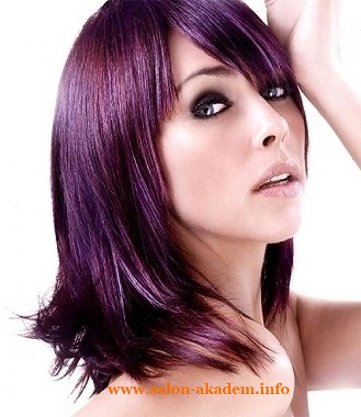 Каскад на средние волосы женские