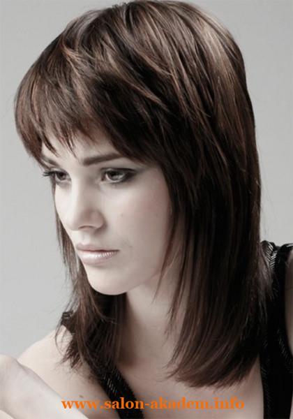 Каскад на средний волос фото