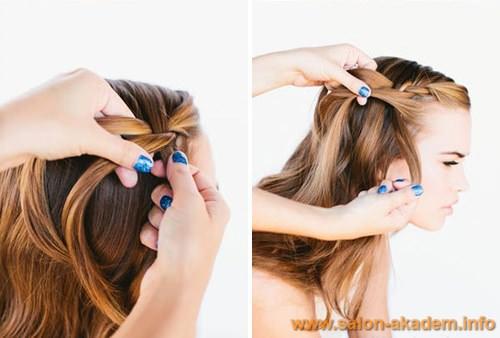 Как заплести косу водопад пошагово фото