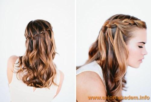 Как сделать косу водопад фото
