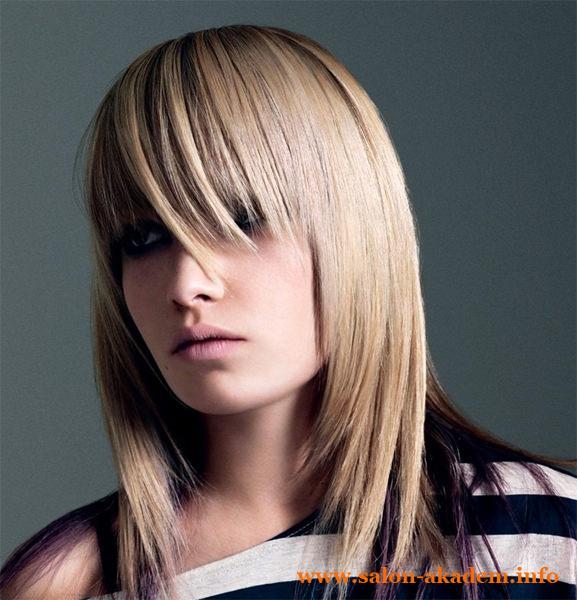 Модный каскад на средние волосы