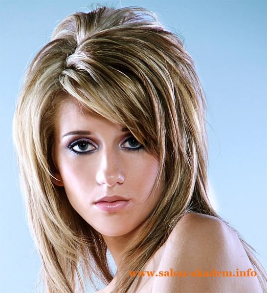 Красивый каскад на средние волосы