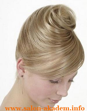 Французская ракушка на средние волосы