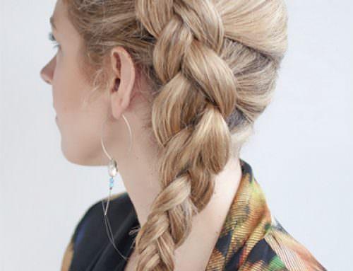 Прическа голландская коса