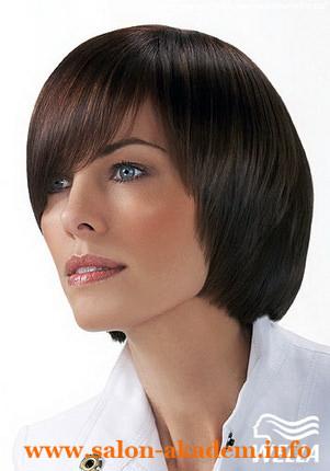 Прическа Каре на удлинение с косой челкой фото