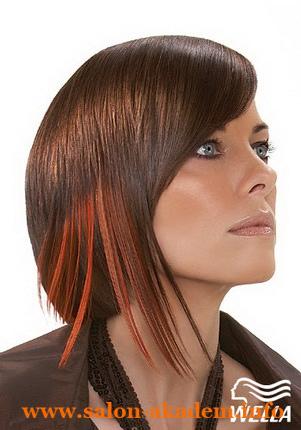 Стрижка Каре с удлинением с косой челкой фото