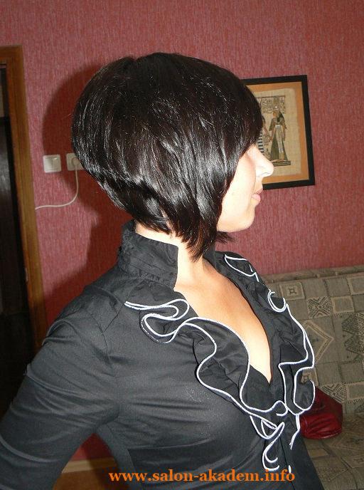 Стрижка короткое каре. Фото сзади