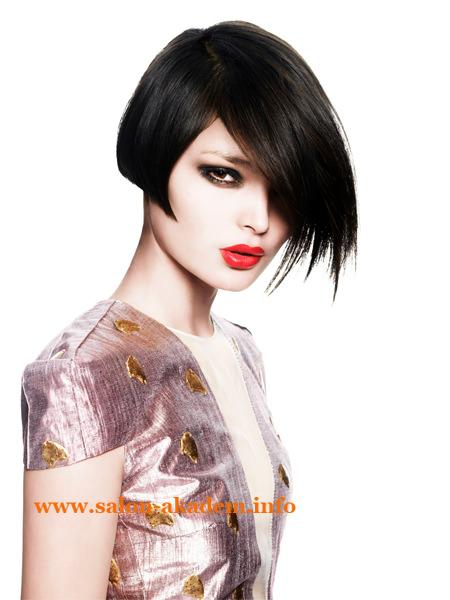 Асимметричный боб на короткие волосы