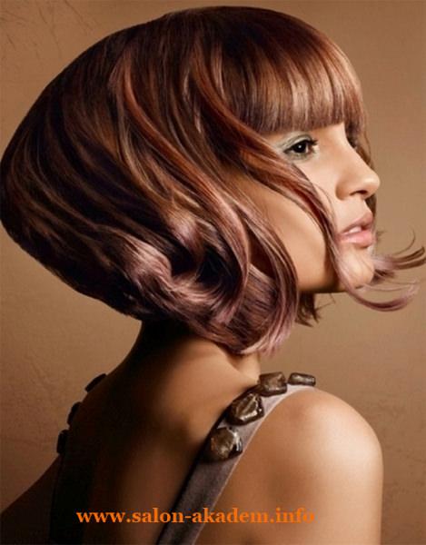 Стильные прически на средние волосы боб