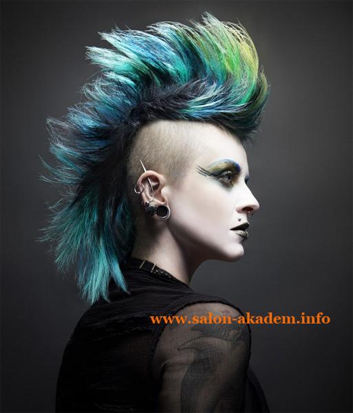 Панк прическа на длинные волосы