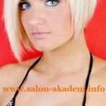Ассиметричный боб на средние волосы