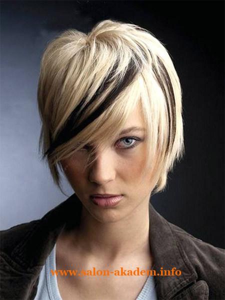 Каскад на короткие волосы фото