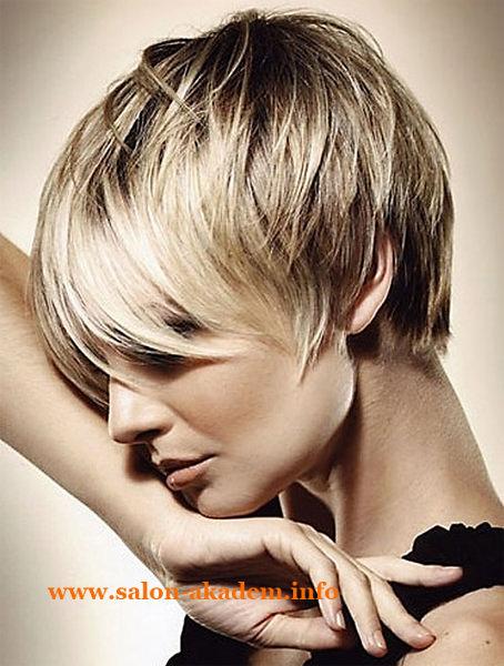 Женская стрижка каскад на короткие волосы фото