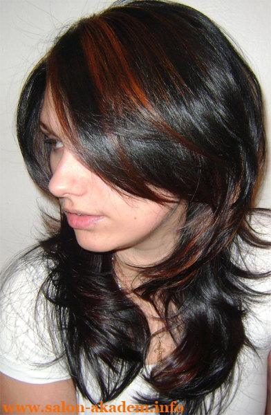 Красивый каскад на длинные волосы