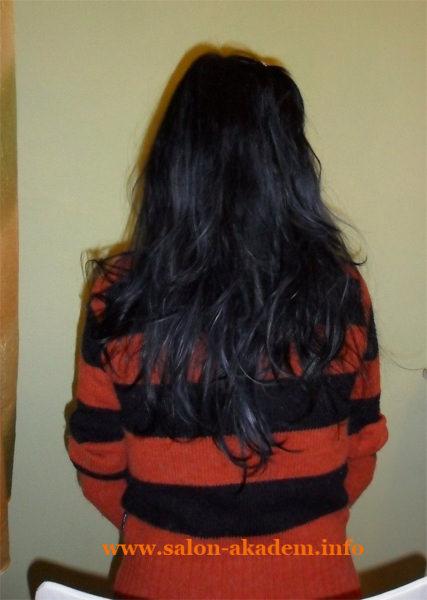 Каскад на длинные волосы сзади фото