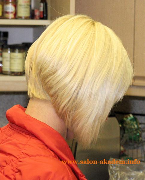 Стрижки боб на короткие волосы. Вид сзади