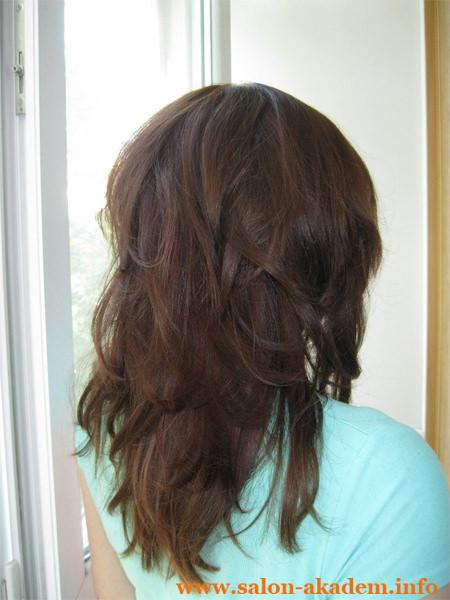 Стрижка каскад на длинные волосы фото сзади