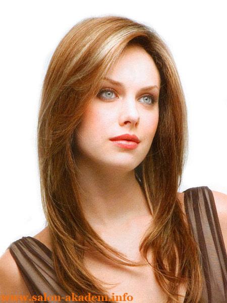 Удлиненный каскад на длинные волосы