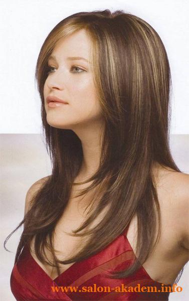 Плавный каскад на длинные волосы