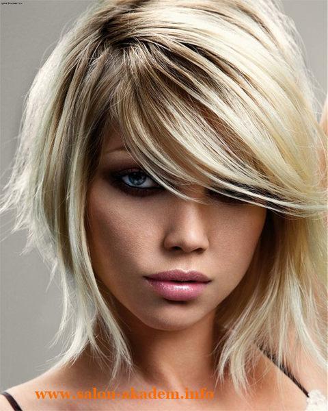 Многослойный боб на длинные волосы