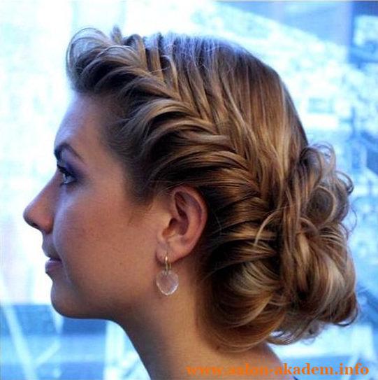 Греческие прически на среднюю длину волос