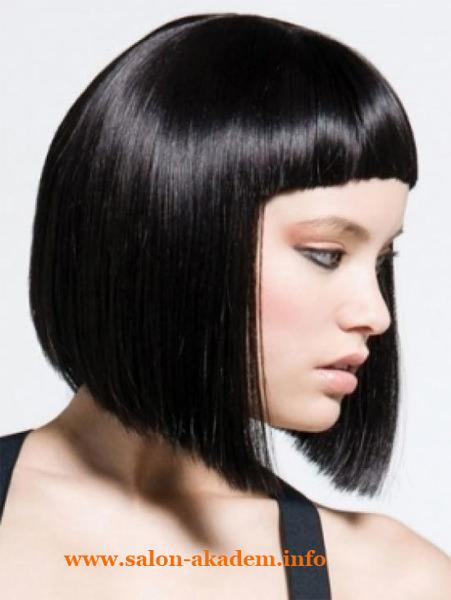 Классический боб на средние волосы