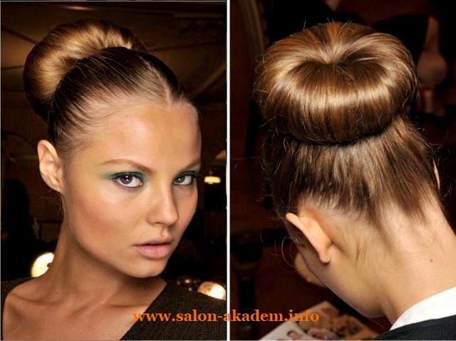 Прическа бабетта на средние волосы фото