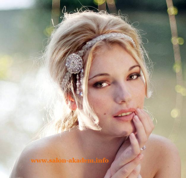 Греческие прически с повязкой на средние волосы