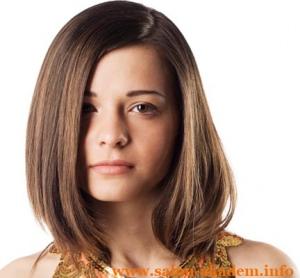 Длинный боб для тонких волос