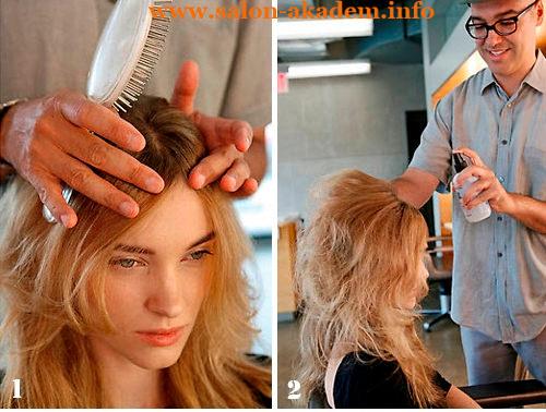как делать бабетту на длинных волосах