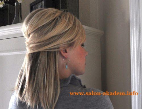 Мальвинка на средние волосы