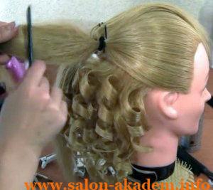 прическа мальвина с локонами и с бантиком из волос фото