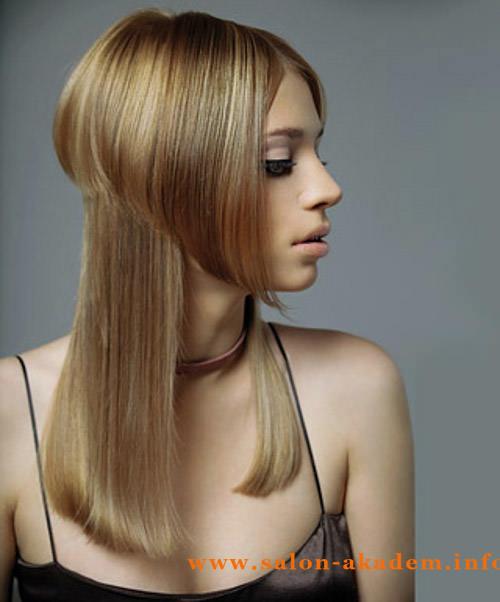 Стрижка шапочка без челки на длинные волосы