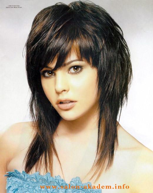 Прическа гаврош фото на длинные волосы