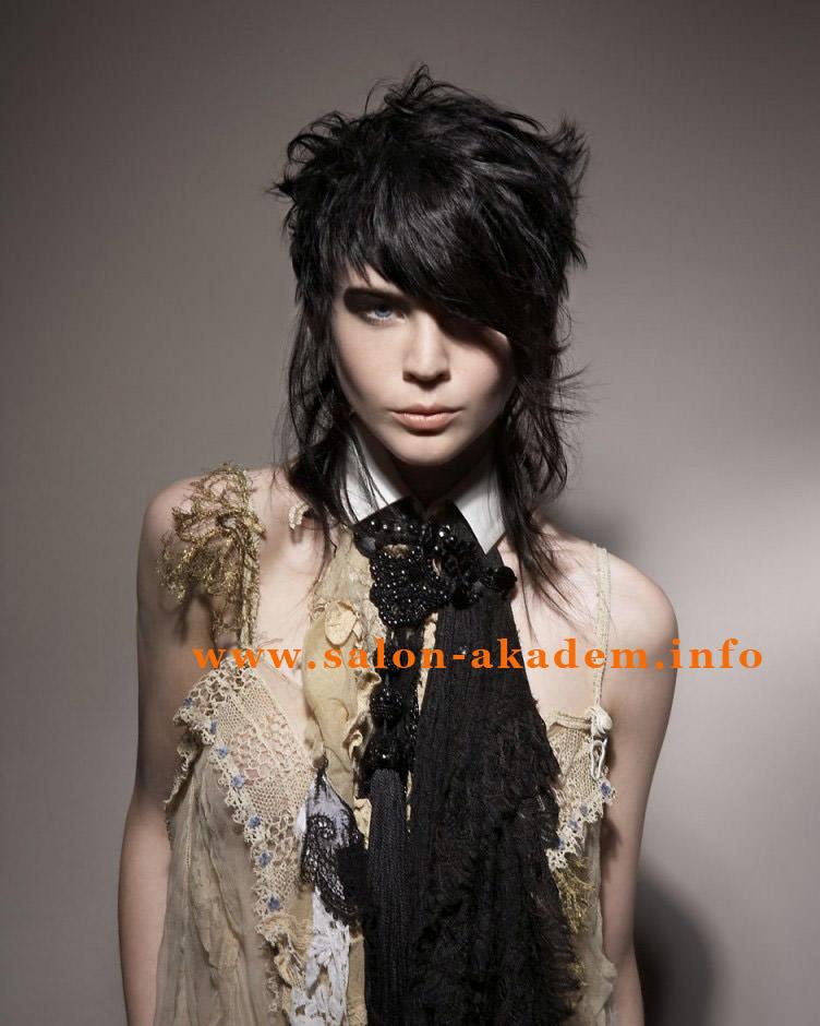 Стрижки на средние волосы типа гаврош